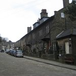 The Old Registry and the road to the Bronte Parsonage Museum, Haworth