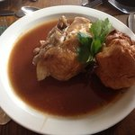 the chicken dinner, this comes with bowls of roasts, steamed veg and mash... all gorgeous!