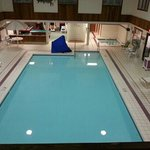  The large clean heated pool.