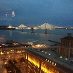  View of lights on Bay Bridge from Regency Club