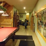 pool table/living area