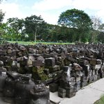  Candi Sewu - pieces of debris as a result of the earthquake