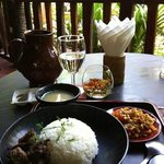 Burmese curry lunch
