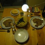 We prepared a dinner in the apartment - good beef...