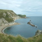  View from Cliff top walk at Durdle Door Beach