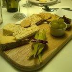 This is my favourite Cornish cheese board.  Beer went down well too !