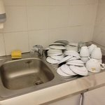 reception's bathroom. (they wash the breakfast cup in the toilets !)