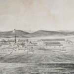 A historical drawing of Fort Sanders in the late 1880s.