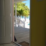 Out over the porch to the ocean