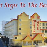  Just steps to the beach