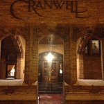 The entrance to the Cranwell's building hosting the main dining and conference room