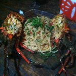 Lobster pasta at resto. To die for.