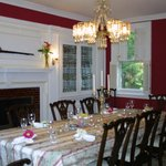  Formal Dining Room with Leaded Glass and Chandelier