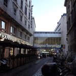  CLOSE to Termini, view from front of Hotel