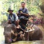 ride an elephant in Ko Cange
