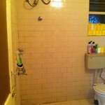 this picture makes the bathroom look better than it is! so imagine how bad in reality!