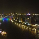  Night view of Pearl River from hotel room