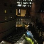  View from room 601: Rendezvous Hotel at night
