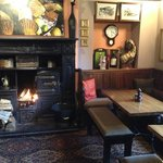  Log fire in the main bar