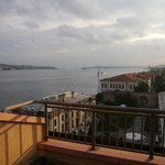 View from our balcony looking towards Istanbul