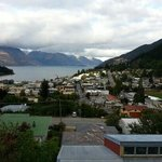  View of Queenstown from the upper chalet dining hall