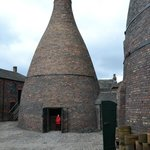 Kilns in the cobbled courtyard