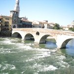 Ponte Pietra - a sunny day in MArch