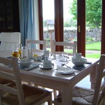 Breakfast served in the Garden Room.