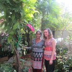 With lovely Priya in her garden.