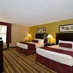  Our 2 queen guest rooms are perfect for families.