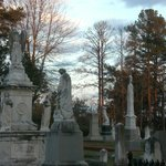 Old Oakwood Cemetery - monuments at sundown