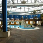 A view of the indoor pool, I did not get a chance to use it.