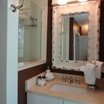 Suite 1 has an in suite bath with heated floors and double shower with multiple shower heads