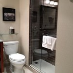 renovated bathroom with stand up shower