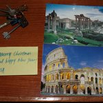  Postcards and note from Isa