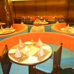 Centre Round Table in Restaurant