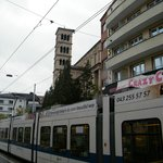  The tram stop &quot;Haldenegg&quot; right in front of the Hotel