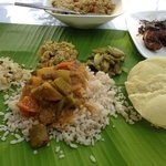 proper home made kerala lunch! so tasty and hand cooked by the grand mother