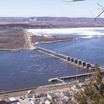 Lock & Dam 4 from Buena Vista, above Alma WI