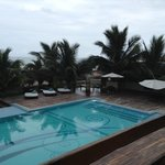  Pool area, excellent pool, best we saw in Ecuador, walk out and right onto the beautiful beach, 