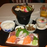  Sashimi teisyoku and nabe