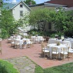  Anniversary lucheon held for my parents on the garden patio at the Inn