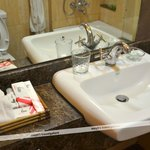 Sink and Bathroom amenities - complete set and they are very clean.