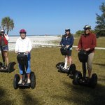 My family on the Segways