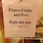 Sign to indoor pool.