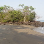  Small beach by bungalow 1