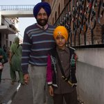 Mr. Davinder and Sikh Child
