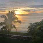 Sunrise at Almond Tree Resort, Corozal