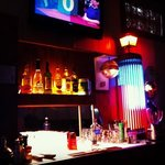 love the lights on the bar