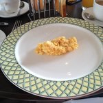  Scrambled egg at breakfast - enough for a sparrow perhaps!